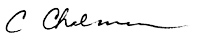 Signature of Crystal Chalmers, Au.D.
